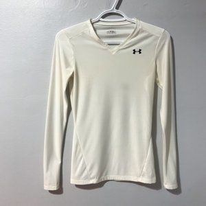 Under Armour Mens Heat Gear White Long Sleeve Top